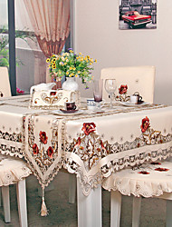 cheap -Contemporary Country polyester fibre Square Table Cloth Floral Patterned Embroidered Table Decorations