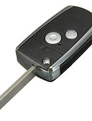 Недорогие -2 кнопки пульта дистанционного управления черный флип ключ для honda civic crv джаз аккорд одиссея