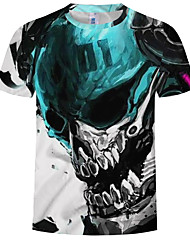 cheap -Men's Plus Size Graphic T-shirt Daily Wear Round Neck Green / Short Sleeve