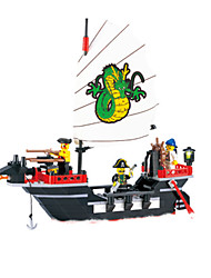 cheap -Building Blocks Construction Set Toys Educational Toy Pirate Ship Pirates compatible Legoing Unisex Boys' Girls' Toy Gift