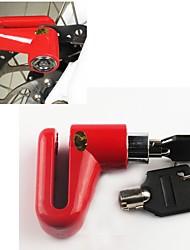 Недорогие -Велозамок Блокировка дискового тормоза Блокировка безопасности Противоугонный Безопасность Назначение Шоссейный велосипед Горный велосипед Односкоростной велосипед Велоспорт Металл Черный Красный 1