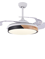 cheap -1-Light QINGMING® 108 cm LED / Tri-color Ceiling Fan Metal Wood / Bamboo Circle / Mini Painted Finishes Artistic / LED 110-120V / 220-240V