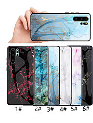 cheap -Phone Case For Huawei Back Cover Huawei P20 Huawei P20 Pro Huawei P20 lite Huawei P30 Huawei P30 Pro Huawei P30 Lite Pattern Marble Hard Tempered Glass