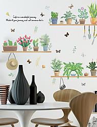Недорогие -свежие зеленые растения в горшках настенные наклейки - слова&усиленные цитаты стикеры на стенах персонажей кабинет / кабинет / столовая / кухня
