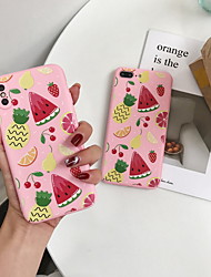 cheap -Case For Apple iPhone X / iPhone 8 Plus / iPhone 8 Pattern Back Cover Food Hard Plastic