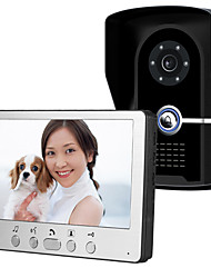 cheap -815FG11 Ultra-thin 7-inch wired video doorbell HD villa one for one video intercom outdoor unit night vision rain unlock function