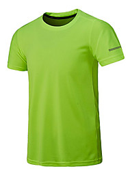 cheap -Men's Running Camping / Hiking Fishing Tee / T-shirt Jersey Top Short Sleeve Activewear Breathable Quick Dry Moisture Permeability High Breathability (>15,001g) Sweat-wicking