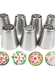 Недорогие -7pcs Нержавеющая сталь Своими руками Для торта куб Инструменты для выпечки Инструменты для выпечки