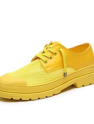 cheap -Women's Oxfords Comfort Shoes Low Heel PU Casual Summer Black / White / Yellow / Daily