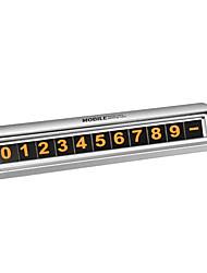cheap -Fluorescent Black Silver Hidden Car Temporary Parking Phone Number Card Plate
