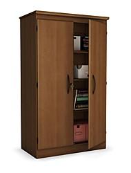 Недорогие -вишневый 2-дверный шкаф для хранения вещей шкаф для спальни, гостиной или домашнего офиса