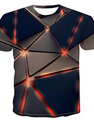abordables -Tee-shirt Homme, 3D Bleu Marine