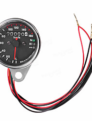cheap -12V Universal Motorcycle Speedometer Odometer Gauge Dual Speed Meter with LED Indicator