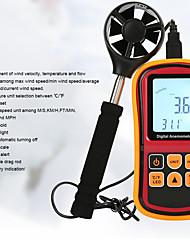Недорогие -rz цифровой анемометр измеритель скорости ветра измеритель скорости ветра анемометр анемограф 0 ~ 45 м / с с горячей проволокой датчик анемометр gm8909
