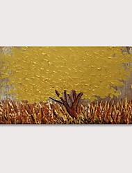 Недорогие -Hang-роспись маслом Ручная роспись - Цветочные мотивы / ботанический Абстрактные пейзажи Modern Включите внутренний каркас