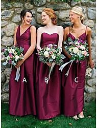 cheap -A-Line Spaghetti Strap / Sweetheart Neckline Floor Length Taffeta Bridesmaid Dress with