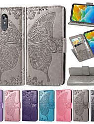 cheap -Case For LG K10 2018 / LG Stylo 4 Embossed / Flip / with Stand Full Body Cases Flower / Butterfly Soft PU Leather for LG G7/LG G7 ThinQ / LG G8 / LG K10(2018) / LG Q7 / LG Stylo 4 / LG K40