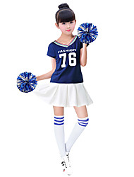 cheap -Cheerleader Cosplay Costume Masquerade Adults' Girls' Cosplay Halloween Christmas Halloween Carnival Festival / Holiday Polyster White / Red / Blue Carnival Costumes Color Block Quotes & Sayings