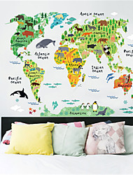 cheap -Decorative Wall Stickers - Map Wall Stickers Maps Indoor / Kids Room