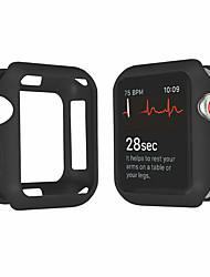 cheap -For Apple Watch Series 4 3 2 1 Bumper Silicone Protector Case Cover 38/40/42/44mm