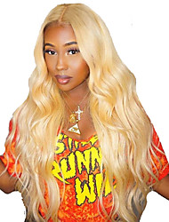 cheap -Human Hair Full Lace Wig Free Part style Brazilian Hair Body Wave Blonde Wig 130% Density Women Best Quality New New Arrival Hot Sale Women's Medium Length Wig Accessories Human Hair Lace Wig Laflare