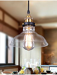 cheap -1-Light 20 cm Pendant Light Aluminum Glass Bowl Antique Brass Vintage 110-120V / 220-240V