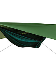 cheap -Camping Hammock with Mosquito Net Hammock Rain Fly Outdoor Sunscreen Breathable Ultra Light (UL) Parachute Nylon with Carabiners and Tree Straps for 2 person Hiking Climbing Camping Army Green