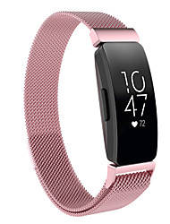 cheap -Smart Watch Band for Fitbit 1 pcs Milanese Loop Stainless Steel Replacement  Wrist Strap for Fitbit Inspire HR Fitbit Inspire L S