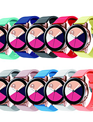 cheap -20mm watch strap For Samsung gear S2 galaxy watch active 42mm sport silicone correa pulseira bracelet belt watch Accessories