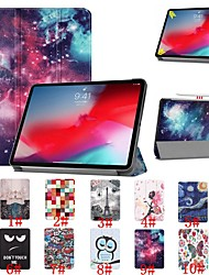 cheap -Case For Apple iPad Pro 11'' Shockproof / Flip / Ultra-thin Full Body Cases sky / Scenery / Flower Hard PU Leather