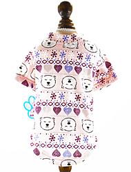 cheap -Dogs Cats T-shirts Dog Clothes Random Color Costume Cotton Print Leisure Simple Style XS S M L XL
