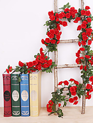 cheap -Artificial Flowers 1 Branch Classic Wall-Mounted Traditional Wedding Roses Eternal Flower Wall Flower