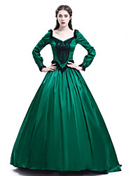 cheap -Princess Maria Antonietta Floral Style Rococo Victorian Renaissance Dress Party Costume Masquerade Women's Lace Costume Green Vintage Cosplay Christmas Halloween Party / Evening 3/4 Length Sleeve