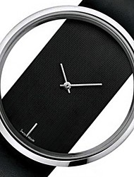 cheap -Couple's Dress Watch Quartz Formal Style Leather Black / White Casual Watch Analog Fashion - White Black One Year Battery Life / Stainless Steel