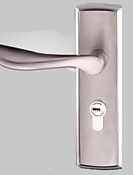 cheap -Indoor wooden door lock single tongue lock bedroom door lock lock handle single tongue anti-theft toilet mechanical door lock silver white