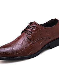 cheap -Men's Formal Shoes PU Spring & Summer / Fall & Winter Casual / British Oxfords Black / Brown / Party & Evening