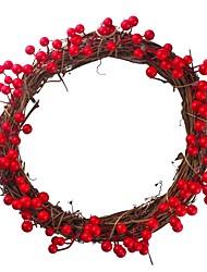 abordables -Décorations de vacances Nouvel An Objets décoratifs Décorative Rouge 1pc