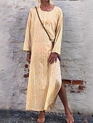 cheap -Women's Daily Casual Sheath Dress - Print Print Yellow Blushing Pink S M L XL