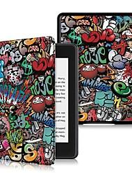 Недорогие -Кейс для Назначение Amazon Kindle Lite (2019) / Kindle PaperWhite 4 2018 Защита от удара / Флип / Ультратонкий Чехол Слова / выражения Твердый Кожа PU