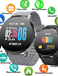 cheap -ST110 Men Smart Bracelet Smartwatch Android iOS Bluetooth Waterproof Touch Screen Heart Rate Monitor Blood Pressure Measurement Sports Stopwatch Pedometer Call Reminder Activity Tracker Sleep Tracker