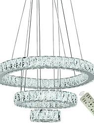Недорогие -Новые современные подвесные светильники для гостиной столовой 3 кольца круг кристалл светодиодное освещение потолочные люстры светильники 110-120 В / 220-240 В