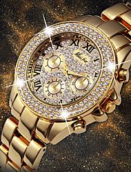 cheap -Women's Quartz Watches Quartz Stylish Fashion Adorable Analog White+Golden Gold Silver / One Year / One Year