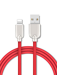 cheap -Lightning Cable 1.5m(5Ft) Gold Plated / Quick Charge TPE USB Cable Adapter For iPhone