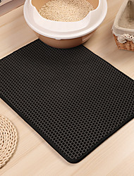 cheap -Dog Cat Pets Beds Cleaning Silica Gel Pet Mats & Pads Solid Colored Classic Breathable Relieves Stress washable Black Brown Silver