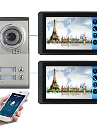 cheap -618MC12 7 inch capacitive touch screen video camera wired video doorbell wifi / 3G / 4G remote call unlock storage visual intercom two-bedroom