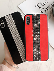 cheap -Case For Apple iPhone XS Max / iPhone X Rhinestone Back Cover Cartoon Hard PU Leather cfor iPhone 6 / iPhone 6 Plus / iPhone 6s/6Splus/7/8/7 plus/8 plus/X/XS/XR/XS MAX