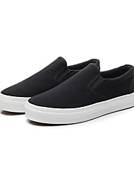 cheap -Men's Comfort Shoes Canvas Summer Casual Loafers & Slip-Ons Breathable Color Block Black / White