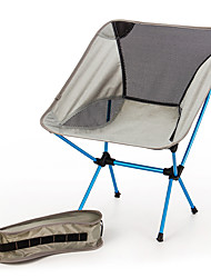 cheap -BEAR SYMBOL Fishing Chairs Camping Chair Portable Breathable Rain Waterproof Ultra Light (UL) Oxford Cloth 7075 Aluminium Mesh for 1 person Fishing Hiking Camping Autumn / Fall Spring Silver