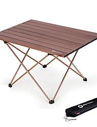 Недорогие -BEAR SYMBOL Туристический стол Легкость Складной Алюминиевые сплавы для Рыбалка Пляж  Походы Путешествия Осень Весна Светло-коричневый