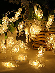 abordables -2m ananas string lights 20 leds chaud blanc / blanc / multi couleur parti / décoration de la maison aa batteries alimenté 1set